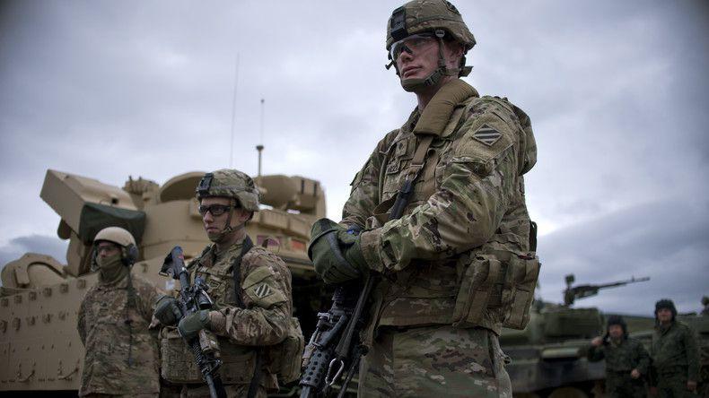 Des soldats américains lors d'une exercice militaire de l'OTAN en Bulgarie, en 2016