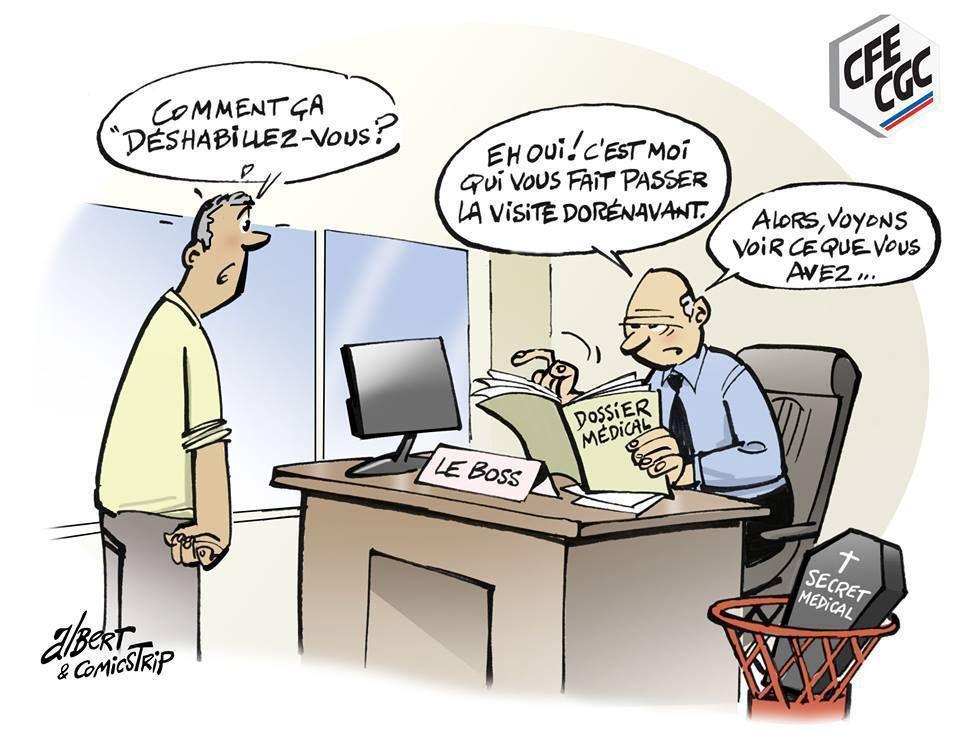 Médecine du travail : &quot&#x3B; Souffre en silence  et travaille !  ou c'est la porte !&quot&#x3B;
