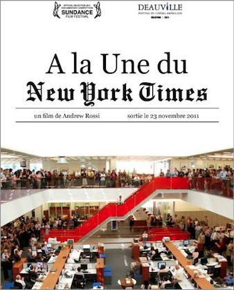 Le documentaire À la Une du &quot&#x3B;New York Times&quot&#x3B;, d'Andrew Rossi (2011) sera projeté au cinéma La Clef (le mardi 13 décembre à 20h).