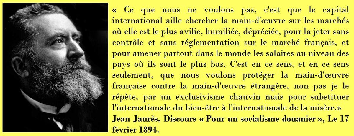 Jean Jaurès, il y a 122 ans : &quot&#x3B;Protéger la main d'oeuvre française contre la main d'oeuvre étrangère...&quot&#x3B;