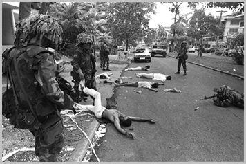 1989 , le 19 décembre, l'armée des Etats-Unis envahit le Panama ...Une violation US de plus de la souveraineté des Etats et des peuples