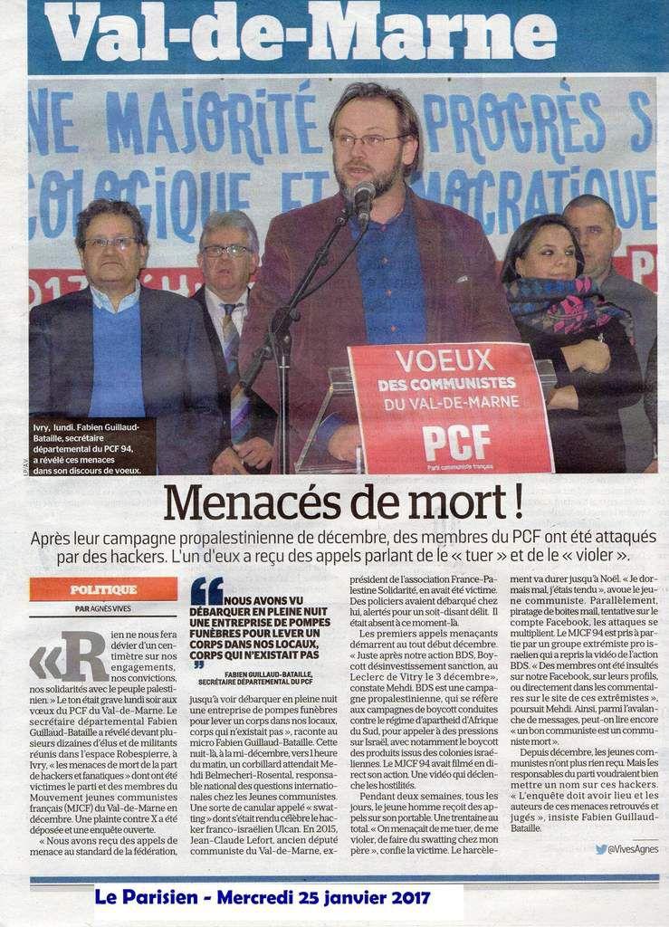 En plein Val-de-Marne, des militants communistes sont menacés de mort !