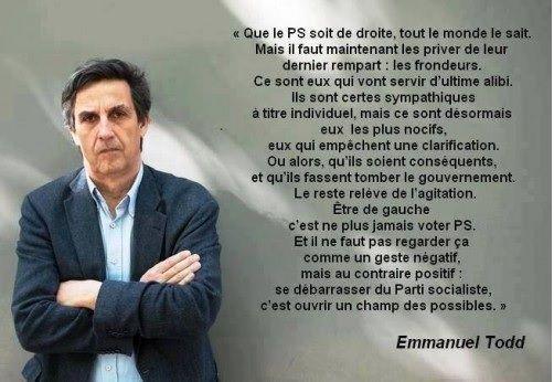 Emmanuel TODD: « Se débarrasser du Parti socialiste, c'est ouvrir le champ des POSSIBLES »