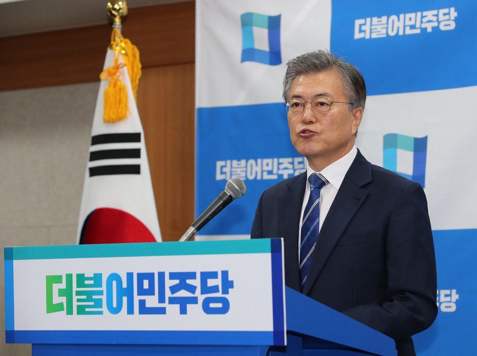 Moon Jae-in, le 12 mars 2017.