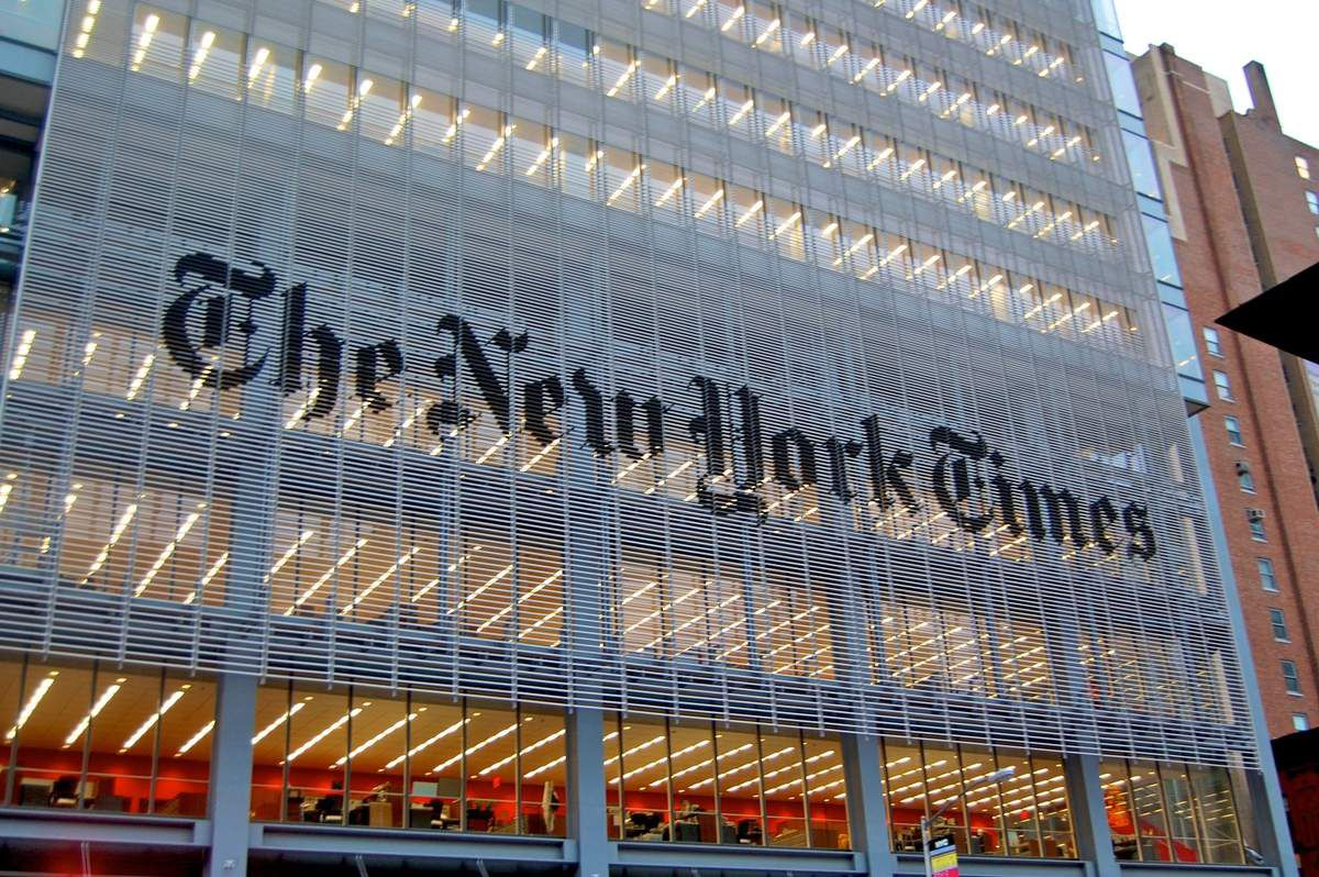 Le siège du New York Times à New York. (Photo de Wikipedia)