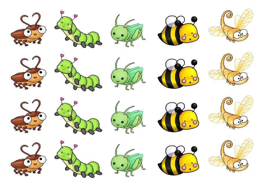 gommettes insectes (3 planches différentes)