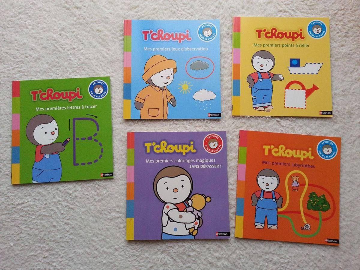T'choupi 5 livres &quot&#x3B;activités pour les petits&quot&#x3B; - Nathan