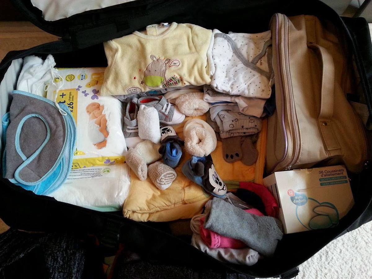 Valises de maternité et Boite à grand frère - Grossesse de Teddy