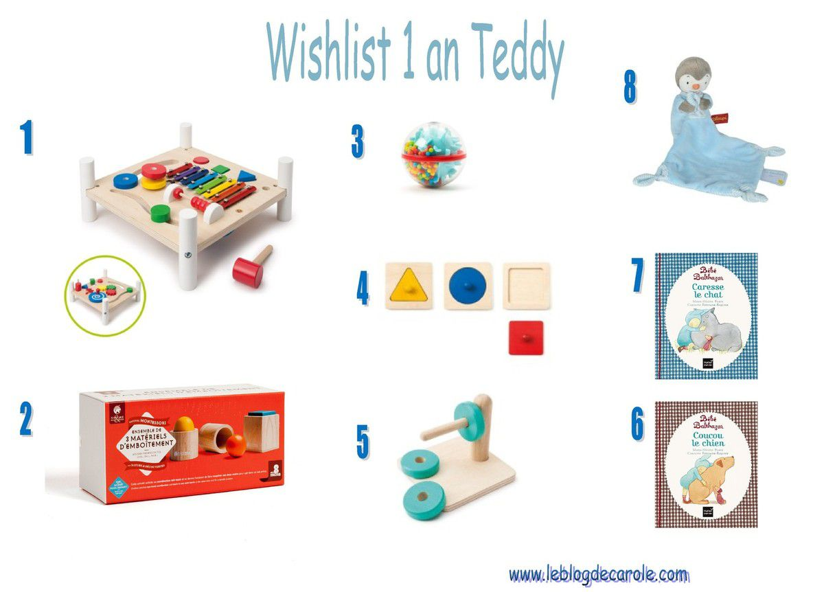 wishlist anniversaire 1 an