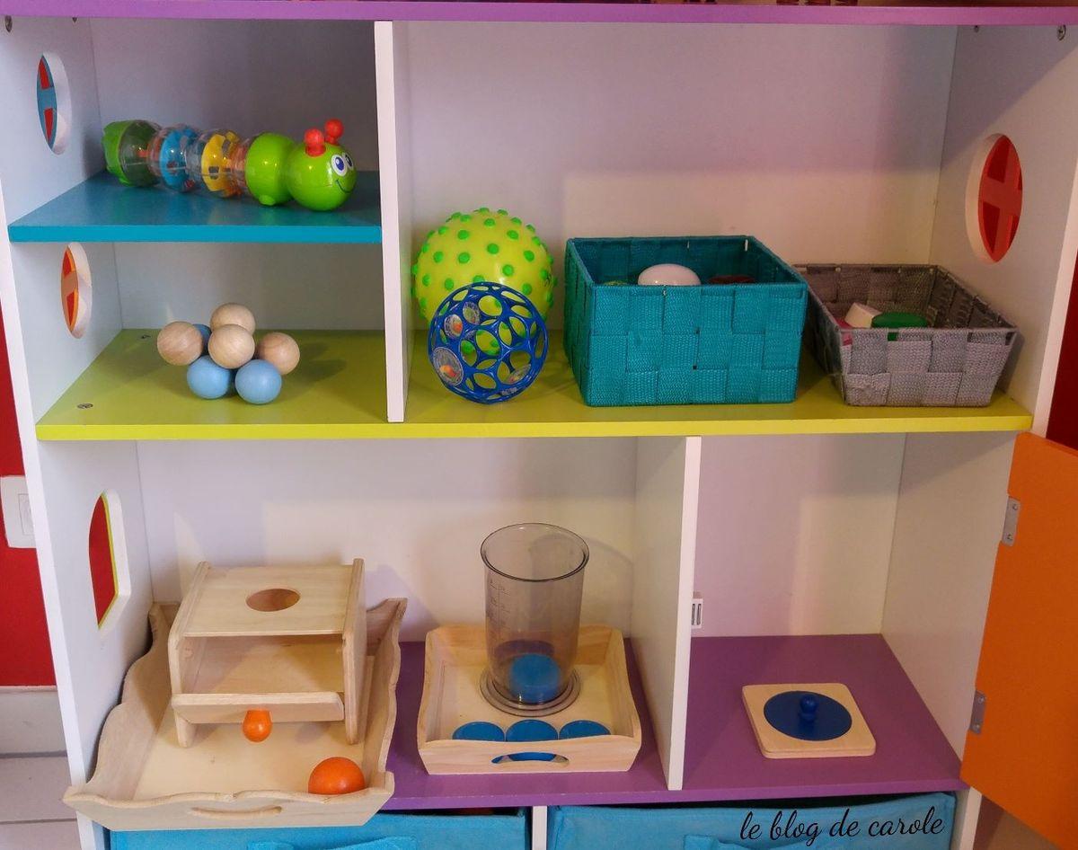 ateliers montessori autour du rond et des balles