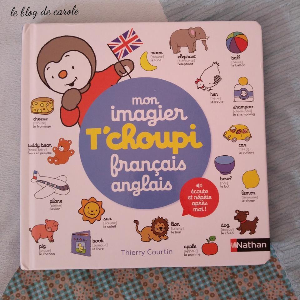 Mon Imagier T Choupi Francais Anglais Editions Nathan Le