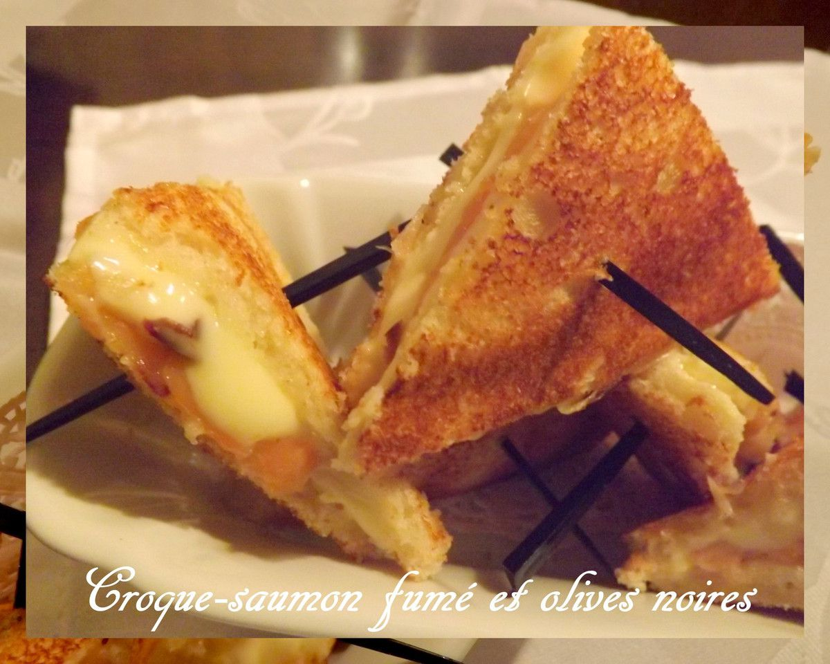 "On coupe le ""croque"" en quatre, on le pique avant de le déguster !!!"