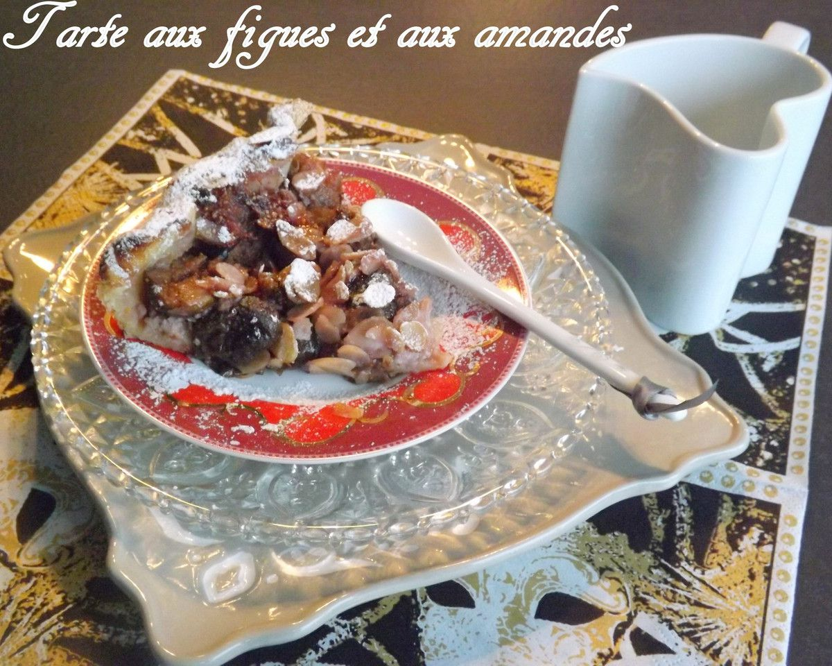 tarte feuillet e aux figues et aux amandes la table de jeanne. Black Bedroom Furniture Sets. Home Design Ideas