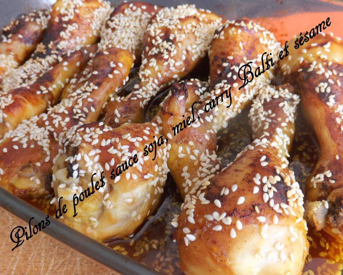 Des pilons marinés à cuire également au barbecue l'été !!!!