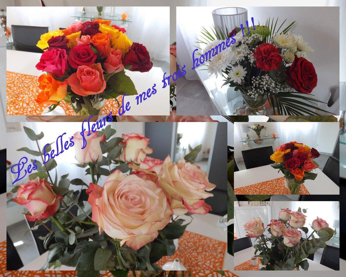 Le bouquet de petit mari et ceux de mes fils, j'ai de la chance, merci à vous et gros bisous