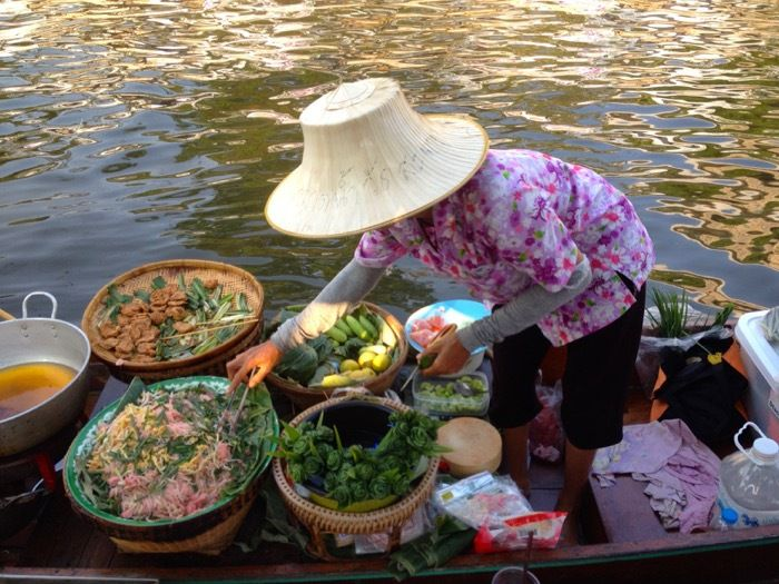 Bangkok - le marché flottant