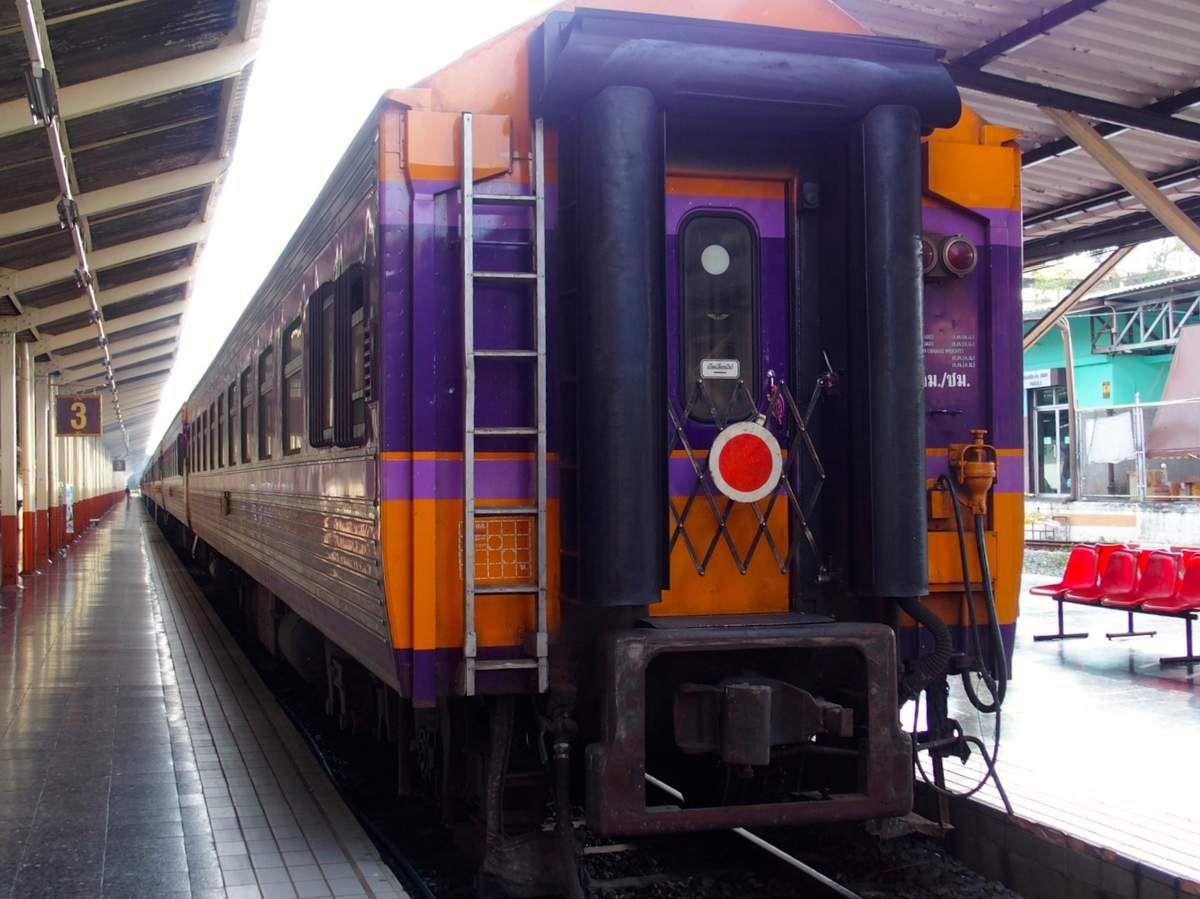 dans le train de Chiang Maï à Bangkok