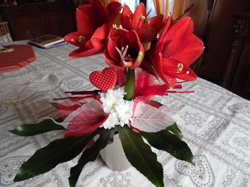 Art floral : amaryllis ouvert