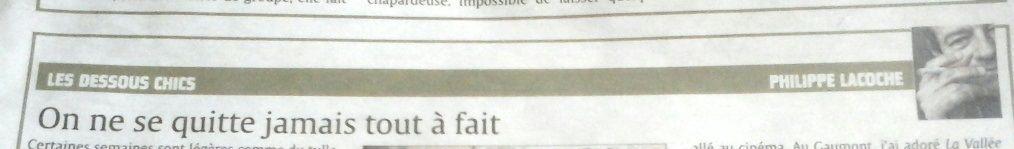 Les Dessous chics du marquis, Philippe Lacoche &#x3B; 28 juin 2015.