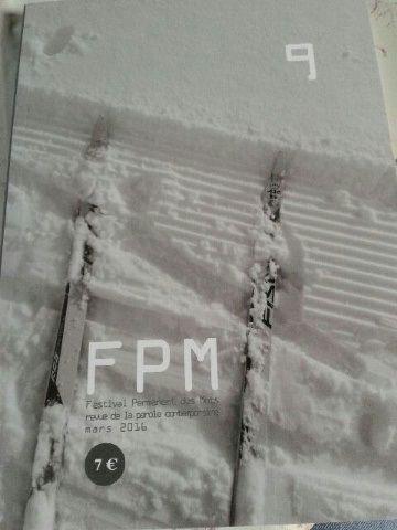FPM 9 -Festival Permanent des Mots, revue de la parole contemporaine, mars 2016
