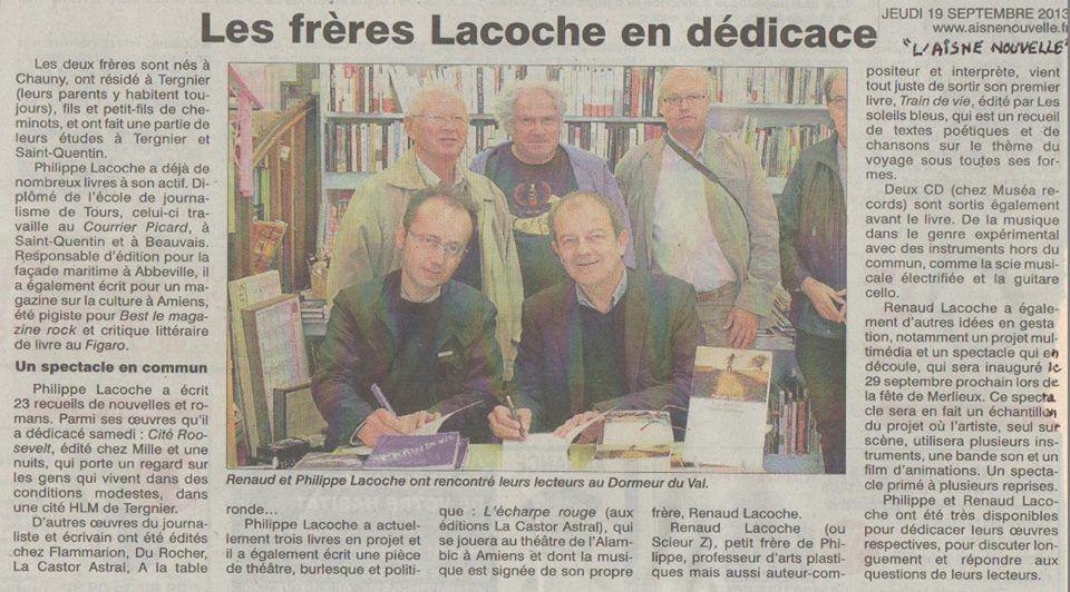 Scieur Z, avec son frère Philippe Lacoche (dernière photo)