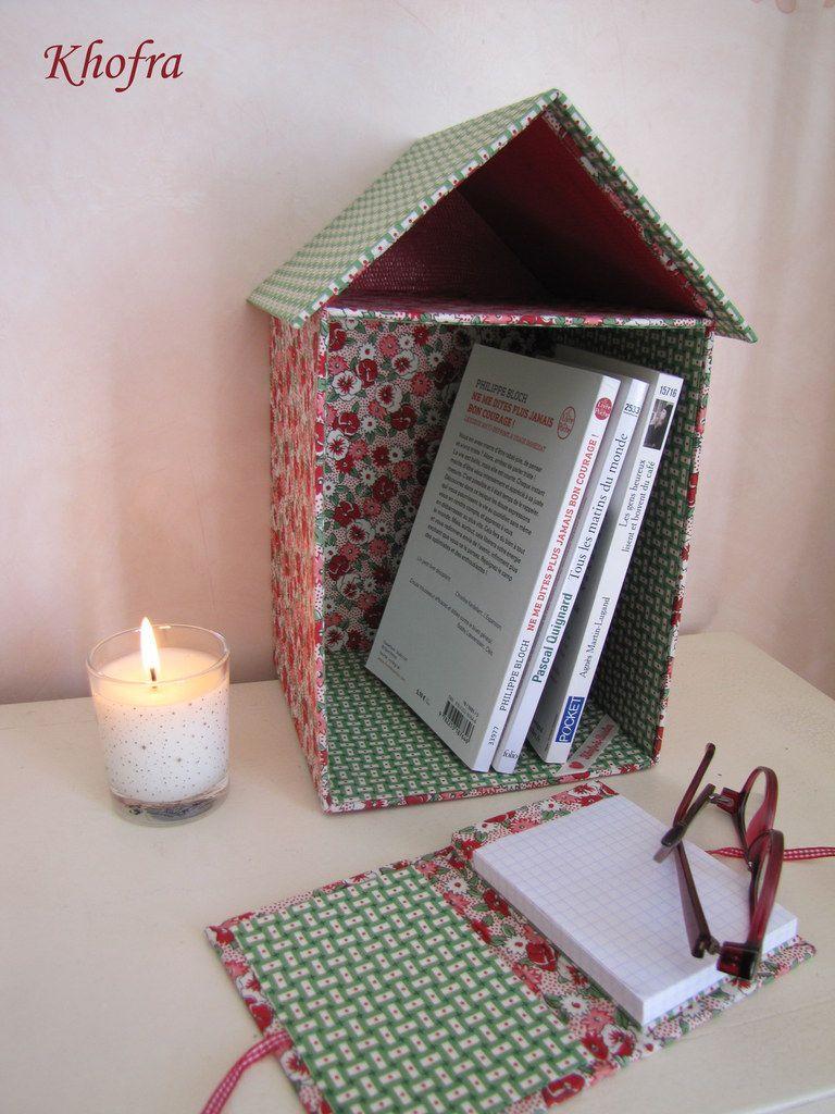 Maison repose-livres - Tuto avec photos