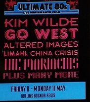 """""""Ultimate 80's ce soir à Bognor Regis"""" avec Kim Wilde"""