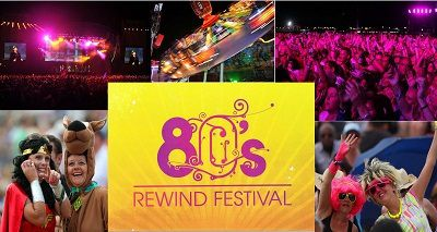 Rewind Festival à Henley-On-Thames avec Kim Wilde, Billy Ocean, Go West OMD, Belinda Carlisle, ABC, Black Box, Kid Creole & The Coconuts...