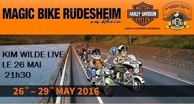 Magic Bike Rüdesheim 2016 avec Kim Wilde