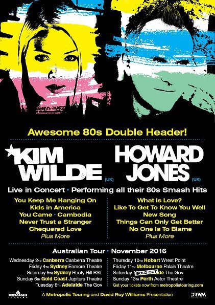 Kim Wilde et Howard Jones - Australian Tour