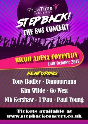 Step Back The 80's Concert avec Kim Wilde