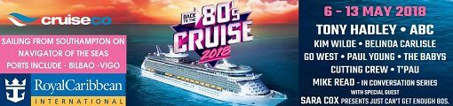 Back To The 80's Cruise avec Kim Wilde, Tony Hadley, ABC et bien d'autres