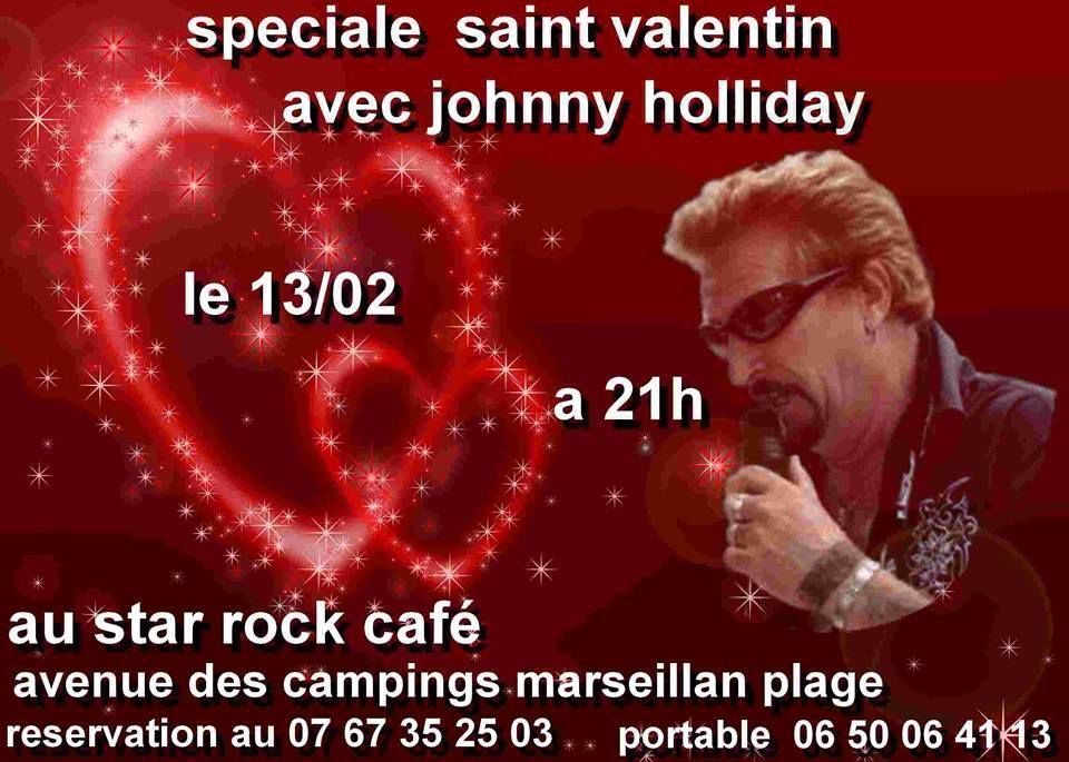 Johnny Holliday au Star Rock café le 13 février 2016