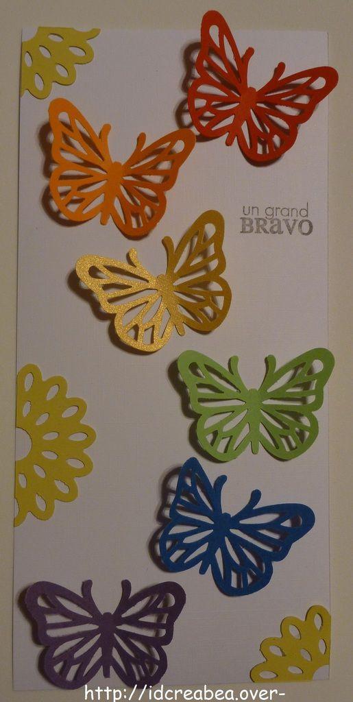 Carte papillons : défi 406 Passion Cartes Créatives.