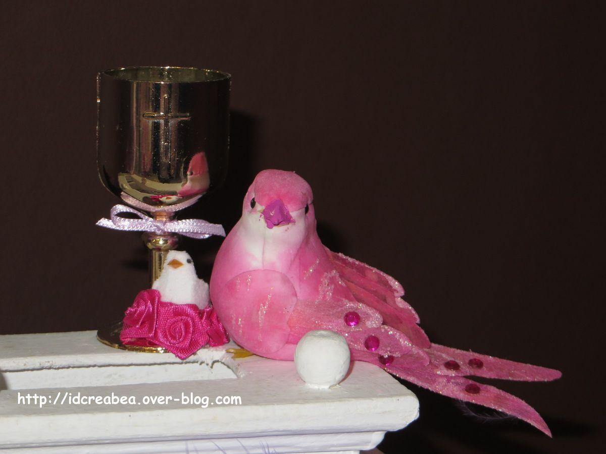 Urne pour la communion thème &quot&#x3B;Oiseaux&quot&#x3B;.