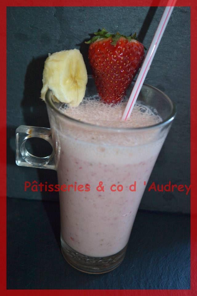 Milk -shake fraise /banane
