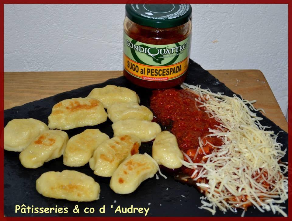 Gnocchis maison avec la sauce tomate /espadon de mon partenaire Eterni Sapori Di Calabria