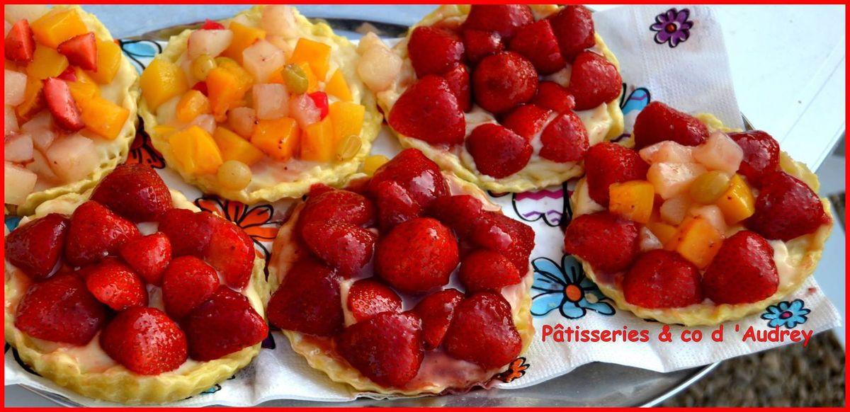 Tartelettes aux fraises et tartelettes multifruits (faites avec la vanille Cap d'Ambre Vanille)