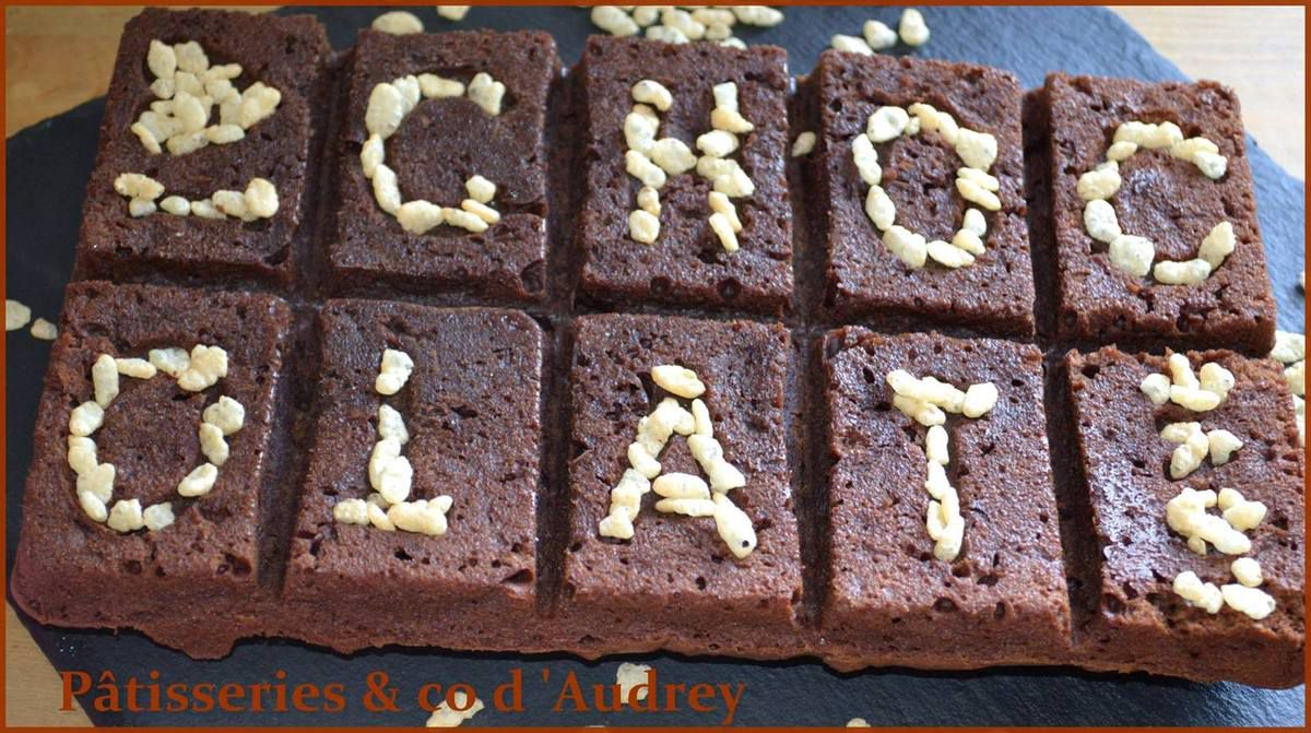 Brownies chocolat / riz soufflé avec Silikomart World