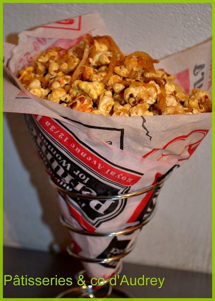 pop corn aux Pomme Tentation caramélisées