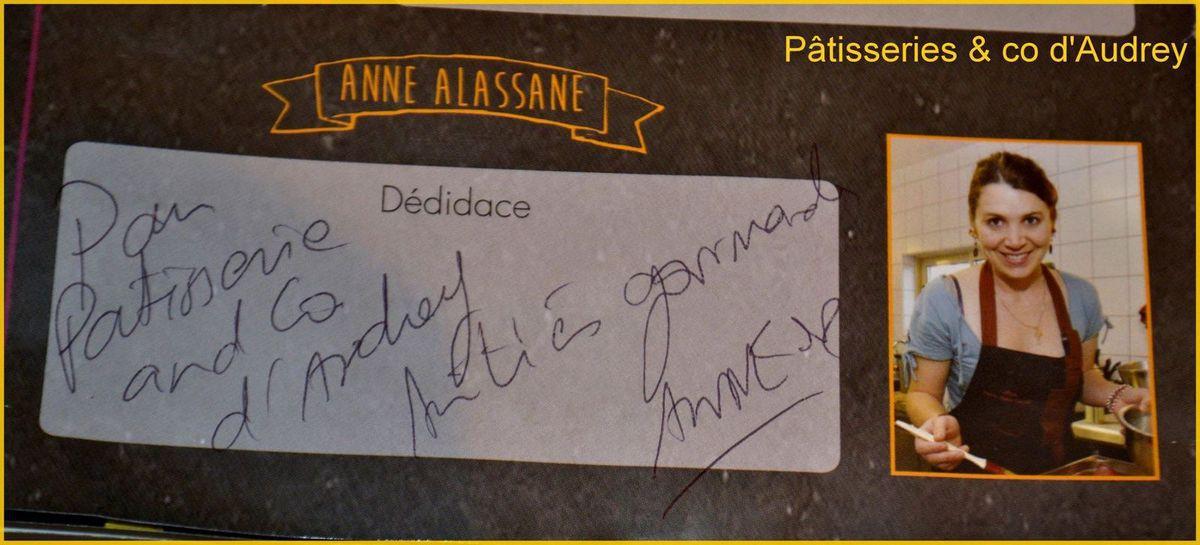 Dédicace pour ma page d'Anne Alassane (gagnante de Masterchef en 2010)