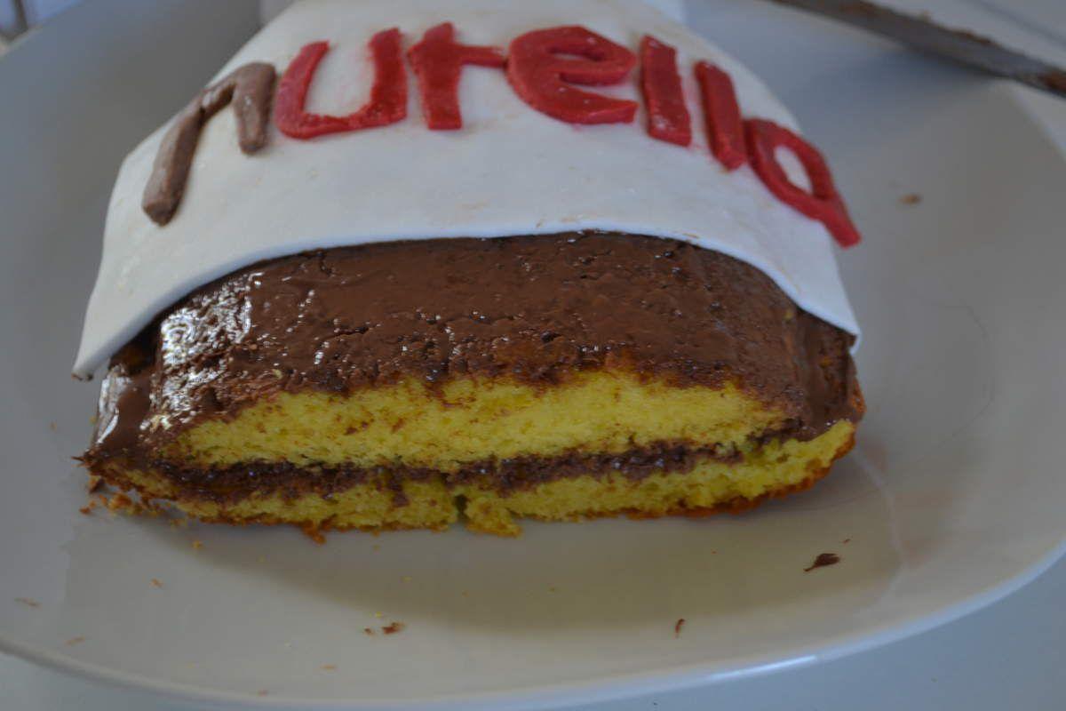 Gâteau au yahourt et au Nutella