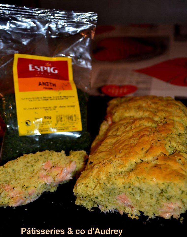 Cake au saumon et à l'aneth (avec Viva les epices)