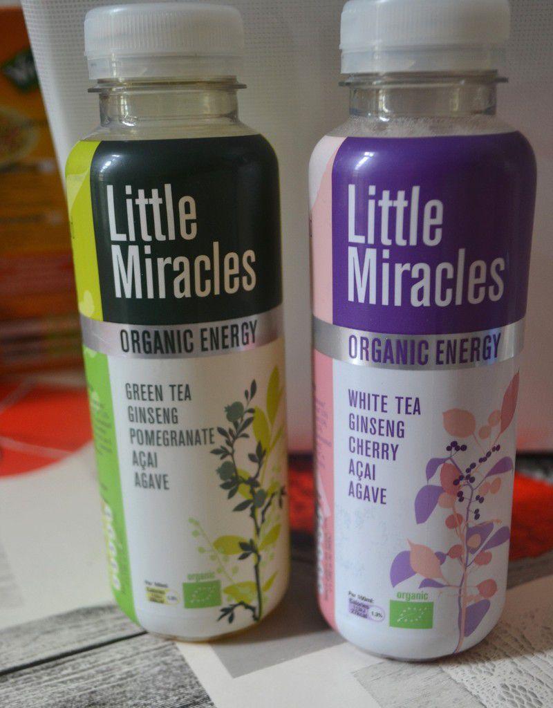 """Boissons rafraichissante et énergisante à base de thé  """"Little miracles"""""""