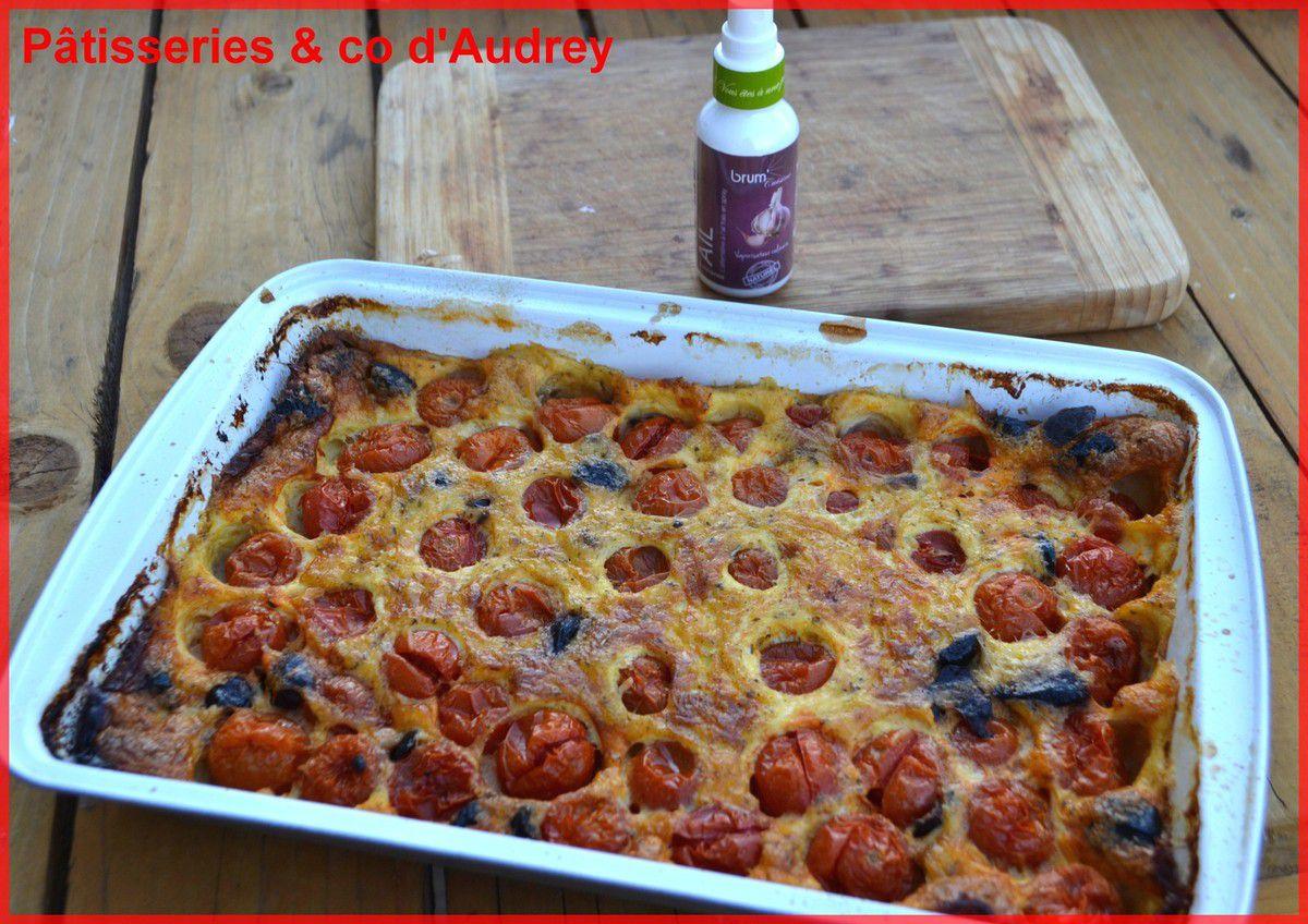 Clafoutis au tomates cerises