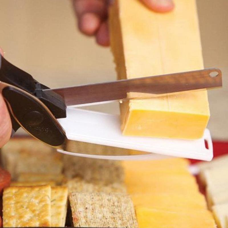 Couteau planche à découper 2 en 1