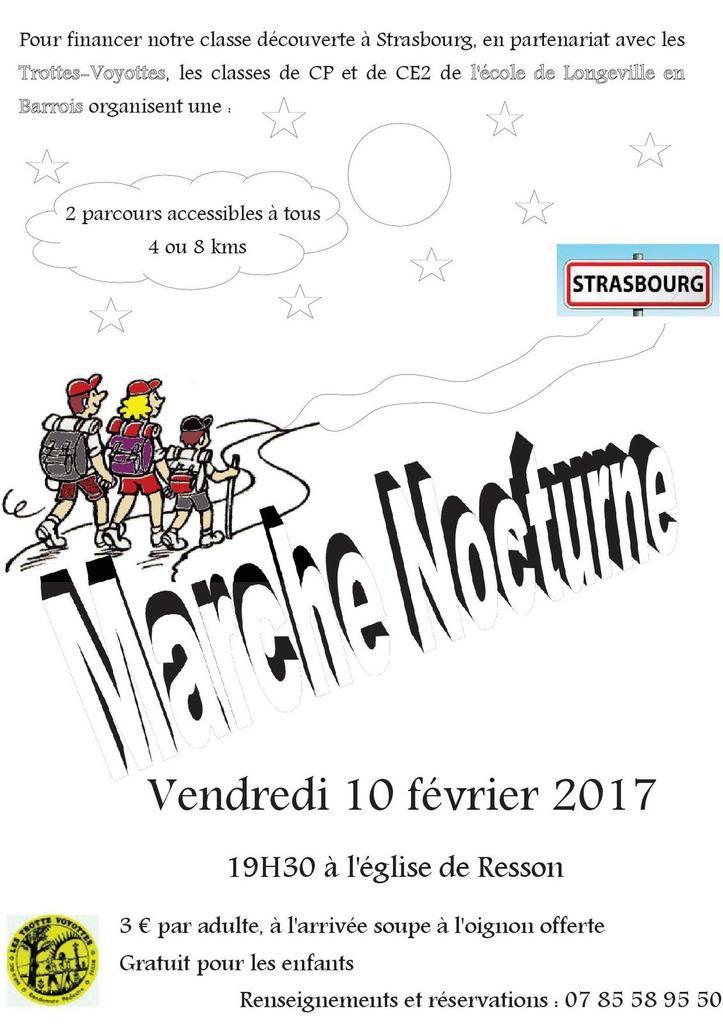 10-02-2017 - MARCHE NOCTURNE pour l' Ecole de Longeville