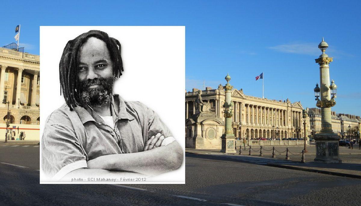 La famille de MUMIA ABU JAMAL a enfin pu le RENCONTRER quelques minutes : RASSEMBLEMENT MERCREDI 1er AVRIL Place de la Concorde à PARIS