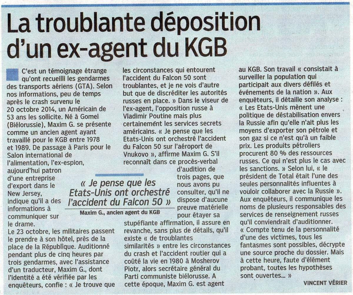 """Article paru dans le quotidien """"Le Parisien"""" du samedi 4 avril 2015"""