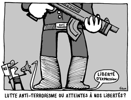 Non à la loi ANTITERRORISTE